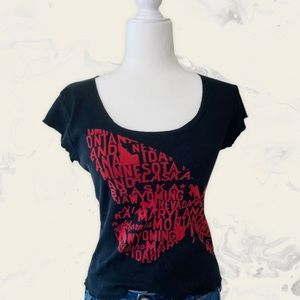 Gap Butterfly U.S. States Printed Top